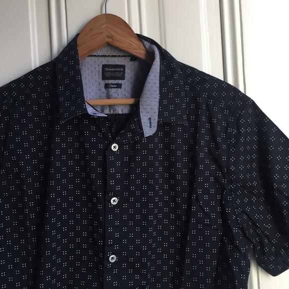 7 Diamonds Other - 7 Diamonds Show Out Print Button Down Shirt